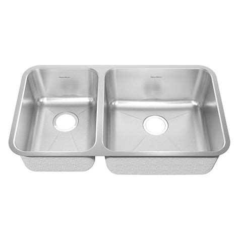 Brushed Steel Kitchen Sink American Standard Prevoir Undermount Brushed Stainless Steel 33 In Bowl Kitchen Sink