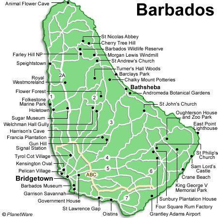 Barbados Search Barbados Attractions Map Images Search