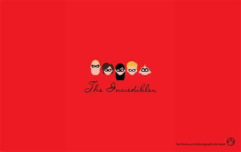 Pixar minimalistic animation the incredibles wallpaper