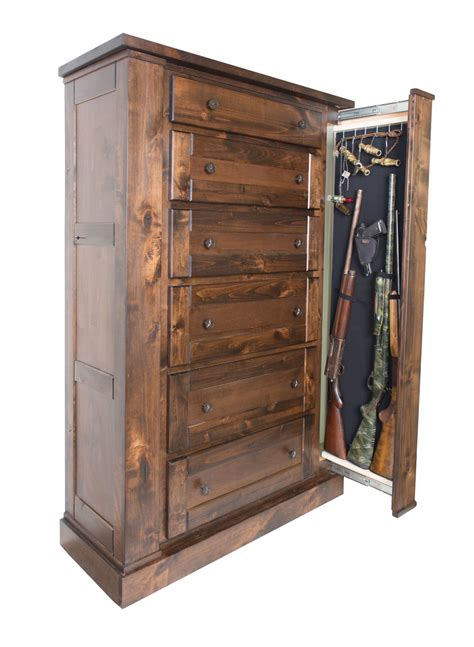 cabinet with gun storage gun chest of drawers willa hide gun cabinets