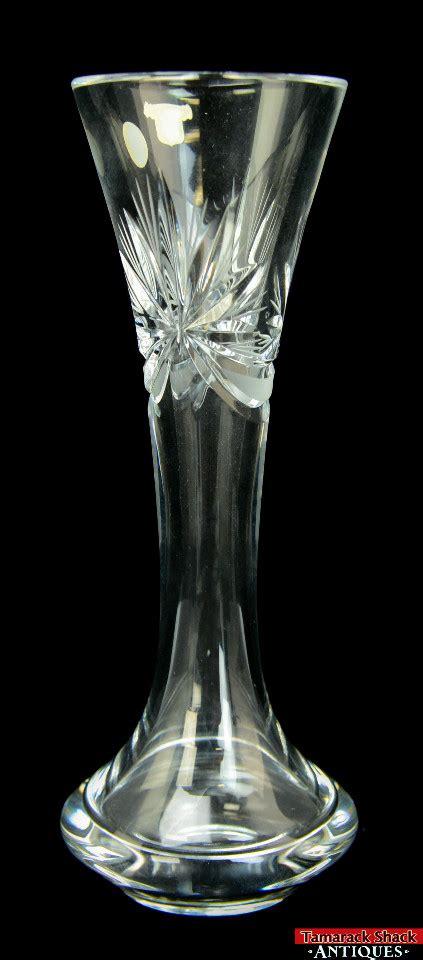 vintage bohemia lead vase cut sklo