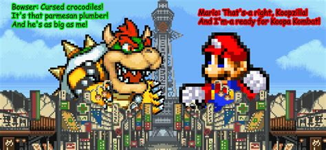 Kaos Mario Bros Mario 03 giga mario and koopzilla by kingasylus91 on