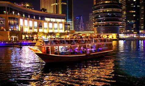 boat cruise in dubai dhow cruise dubai marina evening desert safari
