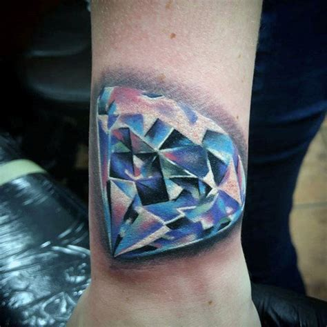tattoo diamond ink collection of 25 blue diamond hand tattoo design