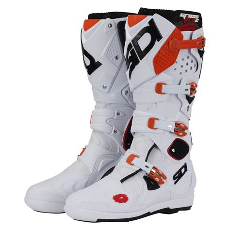 orange motocross boots sidi new mx crossfire 2 srs eu white orange ktm