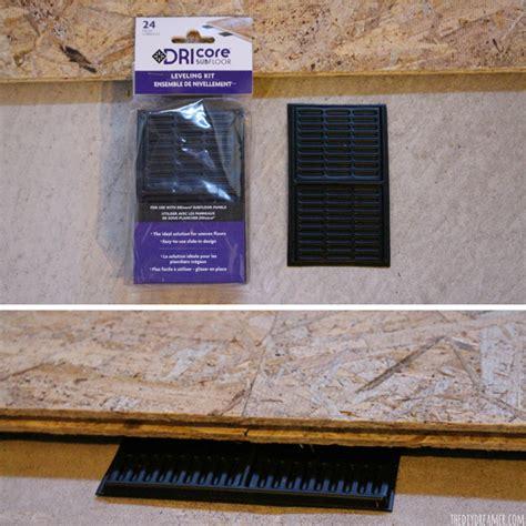 install basement subfloor basement renovation dricore subfloor installation