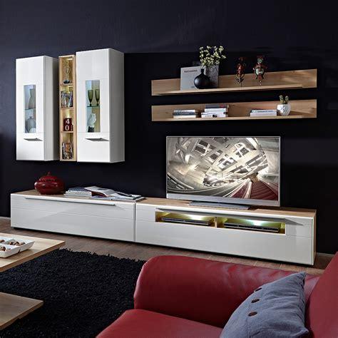 wohnzimmer anbauwand buche wohnwand pop anbauwand wohnzimmer in wei 223 hochglanz und