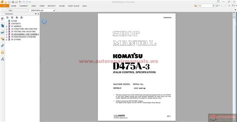 komatsu bulldozers da  shop manual auto repair