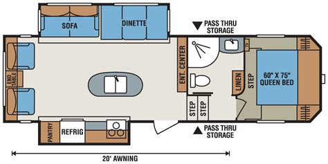 fifth wheel trailer floor plans 2016 sportsmen s285ik fifth wheel k z rv