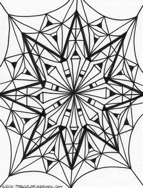 kaleidoscope coloring pages for adults kaleidoscope coloring pages