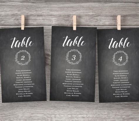 editable chalkboard business card template free chalkboard wedding seating chart printable hanging