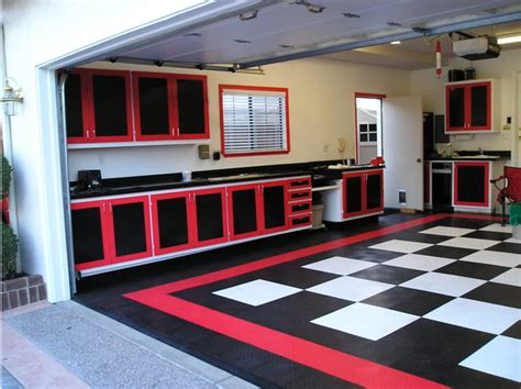 home garage workshop with racedeck garage flooring wall cool garage floors too by racedeck contemporary