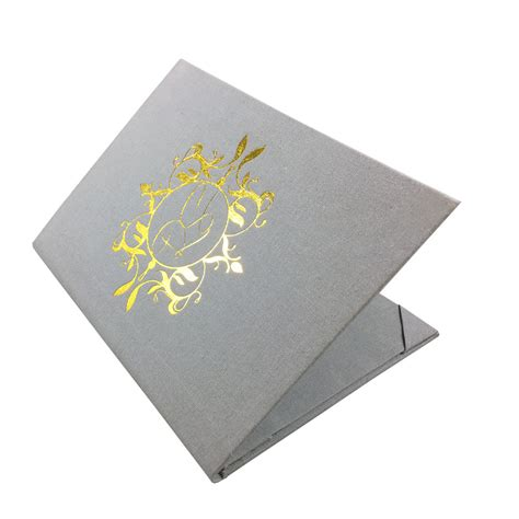 Linen Paper Wedding Invitations by Vintage Gold Foil Sted Linen Wedding Invitation Folder