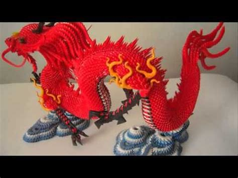 Origami 3d Dragon Tutorial Español | 3d origami red chinese dragon tutorial instruction
