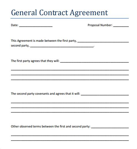 %name contract labor agreement   Sample Contract Agreement   44  Free Documents Download in PDF, Word