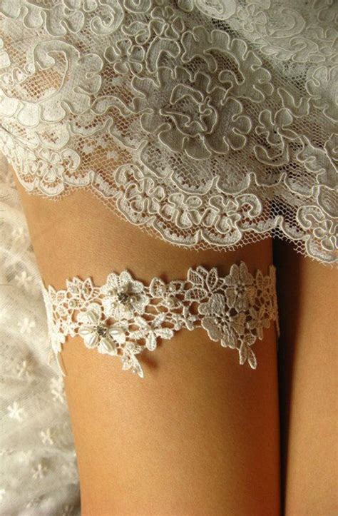 Lace Garter With bridal garter wedding garter white lace garter