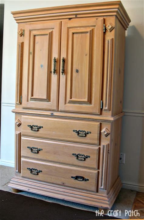 refinished armoire the craft patch the refinished armoire