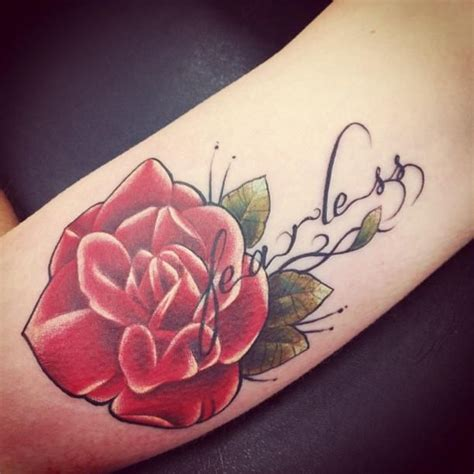 rose tattoo with words best 25 fearless tattoos ideas on