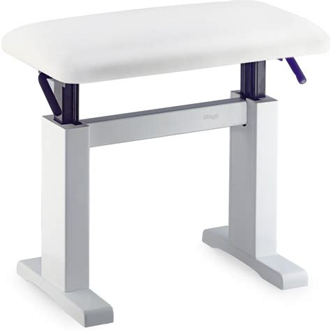 white hydraulic piano bench music direct