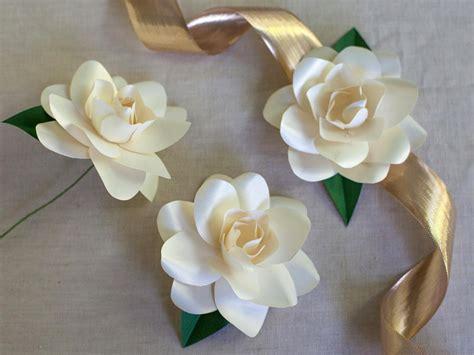 How To Make White Paper Flowers - how to make paper gardenias how tos diy