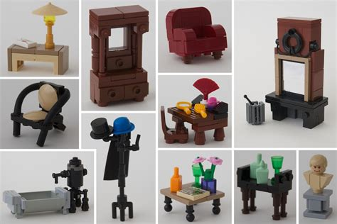 lego furniture assorted interiors for our lego homes lego lego furniture lego and interiors