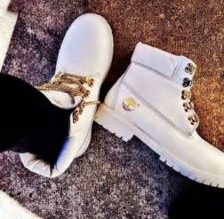 Shoes white sneakers timberlands white white and gold white and