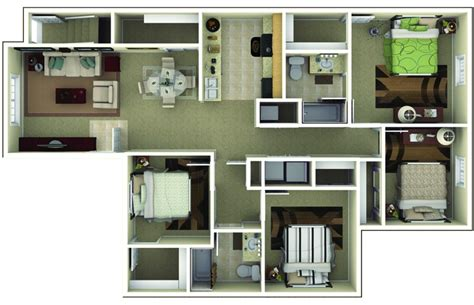 4 Bedrooms Apartments by Apartments In Brownsburg Indiana Floor Plans