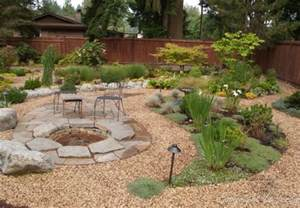 Flagstone Patio Designs Flagstone Gravel Yard Design Home Backyard