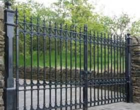 Antique Bronze Wall Sconces Cast Iron Garden Gates