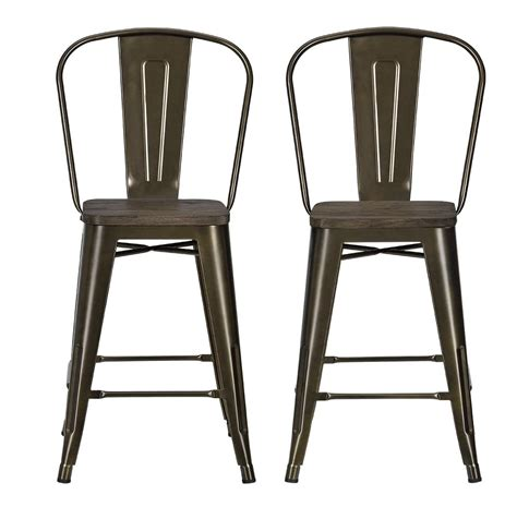 Counter Stools Metal by Dhp Furniture Luxor 24 Quot Metal Counter Stool