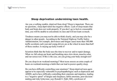 Sleep Deprivation Essay by Argumentative Essay On Sleep Deprivation Writefiction581 Web Fc2