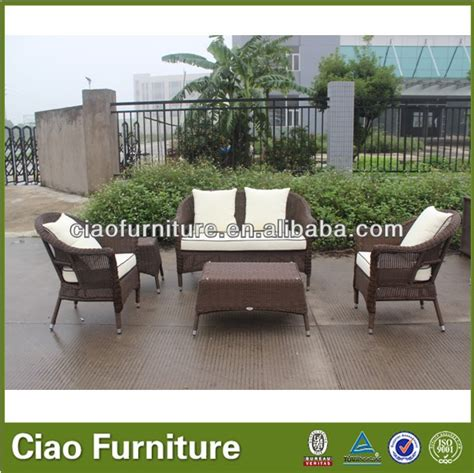 prestige outdoor furniture poly rattan sofa set view