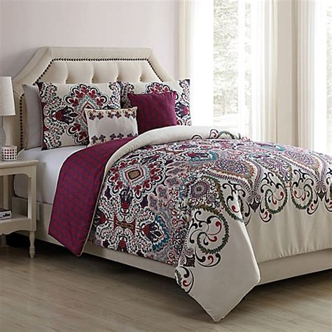 vcny home amherst reversible comforter set bed bath beyond