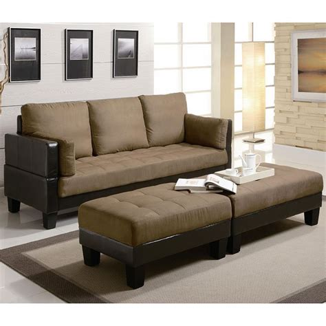 Microfiber Sofa Review by Brown Microfiber Sofa Bed W Ottomans By Coaster Furniture