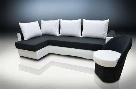 Small White Sofa Bed Corner Sofa Bed Zeus And Small Chair Suedline Fabric Black White