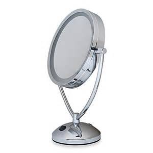 Vanity Lighted Mirrow 1x 10x Magnifying Lighted Chrome Vanity Mirror Bed Bath