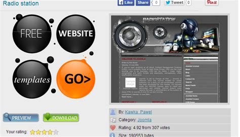 Great Joomla Radio Station Templates Af Templates Radio Station Contract Template