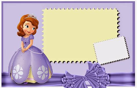 printable invitations of sofia the first sofia the first free printable invitations cards or photo