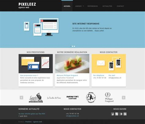 design inspiration websites pixeleez web agency digital marketing and communication