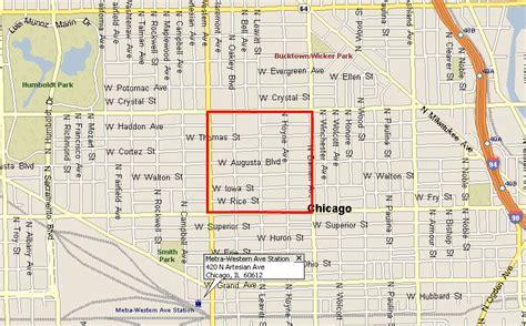 ukrainian chicago map ukrainian walking distance to metra wicker park