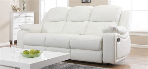 cheap couches montreal montreal blossom white reclining 3 3 seater leather sofa