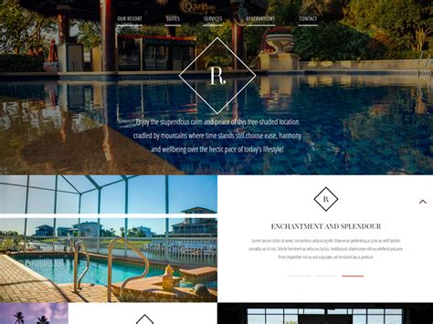 free bootstrap templates for resorts riviera free hotel bootstrap template freemium download