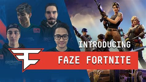 what fortnite team is on introducing the faze fortnite pro team