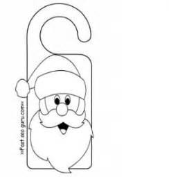 santa claus craft template door knob coat hanger