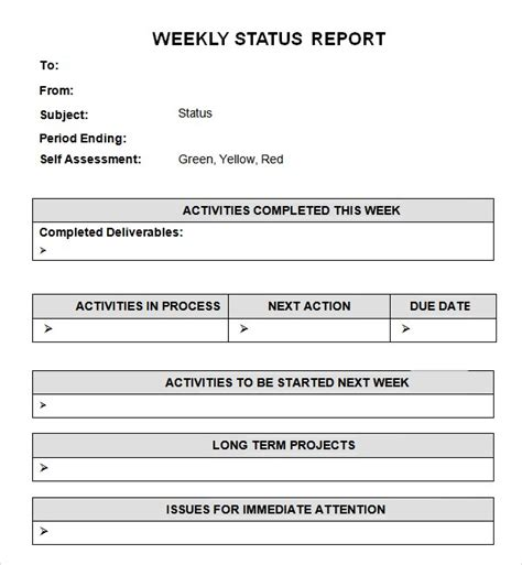 word project report template 7 weekly status report templates word excel pdf formats