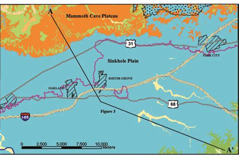 kentucky karst map study geologic maps and cave resources in kentucky