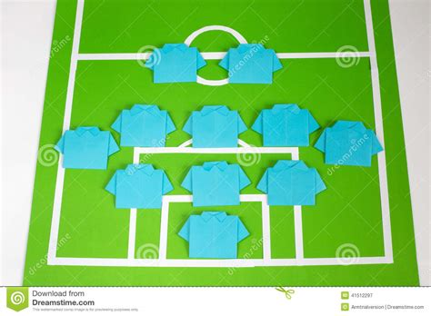 Origami Football Player - origami football formation tactics stock image image