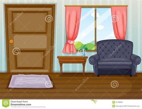 Livingroom Art by Una Sala De Estar Limpia Ilustraci 243 N Del Vector Imagen De