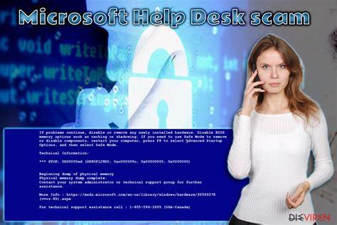 microsoft windows help desk entferne microsoft help desk tech support scam einfache