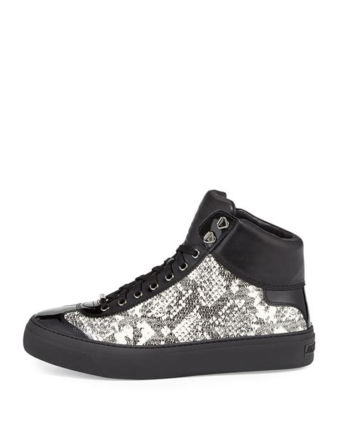jimmy choo sneakers mens jimmy choo argyle mens snakeembossed hightop sneaker in